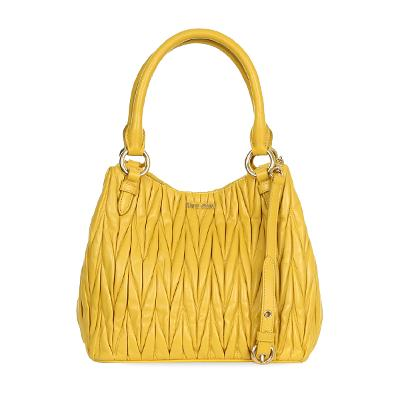 matelasse tote bag yellow